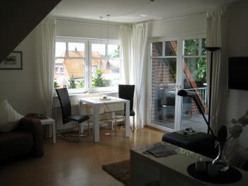 Kleiner Meerblick - Blick ins Apartment